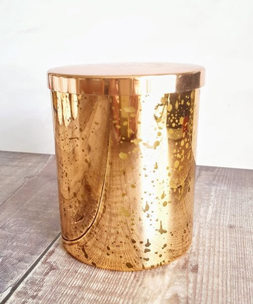 Copper Mercury Glass Jar Candle, Natural Wax. 300g
